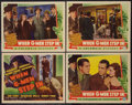 """Movie Posters:Crime, When G-Men Step In (Columbia, 1938). Title Lobby Card and Lobby Cards (3)(11"""" X 14""""). Crime.. ... (Total: 4 Items)"""