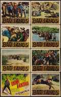 "Movie Posters:Western, Bad Lands (RKO, 1939). Lobby Card Set of 8 (11"" X 14""). Western.. ... (Total: 8 Items)"