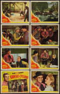 "Movie Posters:Western, Kansas Cyclone (Republic, 1941). Lobby Card Set of 8 (11"" X 14""). Western.. ... (Total: 8 Items)"