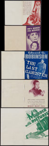 Movie Posters:Crime, The Last Gangster & Others Lot (MGM, 1937). Heralds (5) (Various Sizes). Crime.. ... (Total: 5 Items)