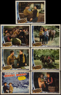 "Movie Posters:Western, Desert Bandit (Republic, 1941). Title Lobby Card and Lobby Cards (6) (11"" X 14""). Western.. ... (Total: 7 Items)"