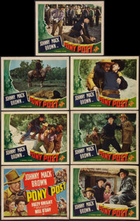 "Pony Post (Universal, 1940). Title Lobby Card and Lobby Cards (6) (11"" X 14""). Western. ... (Total: 7 Items)"