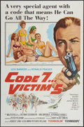 """Movie Posters:Action, Code 7, Victim 5 (Columbia, 1964). One Sheet (27"""" X 41""""), Three Sheet (41"""" X 81""""), and Lobby Cards (5) (11"""" X 14""""). Action.... (Total: 7 Items)"""