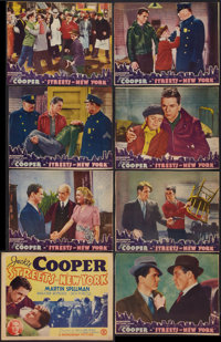 """Streets of New York (Monogram, 1939). Lobby Card Set of 8 (11"""" X 14"""" and 10"""" X 13""""). Crime. ... (Tot..."""