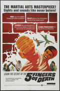 """Movie Posters:Action, Five Fingers of Death (Warner Brothers, 1973). One Sheet (27"""" X 41"""") and Lobby Card Set of 8 (11"""" X 14""""). Action.. ... (Total: 9 Items)"""