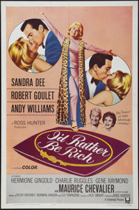 """I'd Rather Be Rich (Universal, 1964). One Sheet (27"""" X 41"""") and Lobby Cards (5) (11"""" X 14""""). Comedy..."""