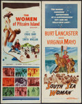 "Movie Posters:Adventure, South Sea Woman & Others Lot (Warner Brothers, 1953). Inserts(2) (14"" X 36"") & Spanish Language One Sheet (27"" X 41"").Adve... (Total: 3 Items)"