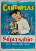 """Movie Posters:Comedy, The Super Scientist & Other Lot (Columbia, R-1963). Spanish One Sheets (2) (27"""" X 39"""" and 27.5"""" X 39""""). Comedy. Original Tit... (Total: 2 Items)"""