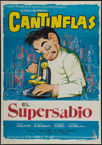 """The Super Scientist & Other Lot (Columbia, R-1963). Spanish One Sheets (2) (27"""" X 39"""" and 27.5"""" X 39&..."""