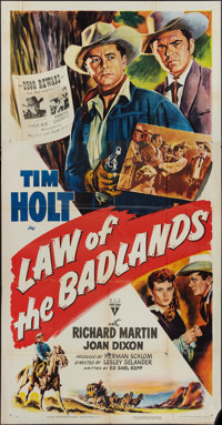 "Law of the Badlands (RKO, 1951). Three Sheet (41"" X 81""). Western"