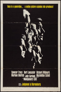 "Judgment at Nuremberg (United Artists, 1961). One Sheet (27"" X 41""). Drama"
