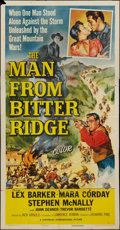 "Movie Posters:Western, The Man from Bitter Ridge and Other Lot (Universal International, 1955). Three Sheets (2) (41"" X 81""). Western.. ... (Total: 2 Items)"