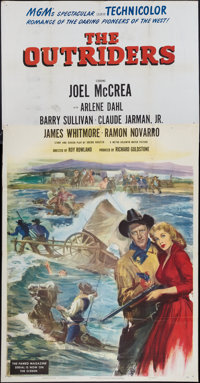 """The Outriders and Other Lot (MGM, 1950). Three Sheet (41"""" X 81"""") and Six Sheet (61"""" X 81""""). Western..."""
