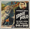 "Movie Posters:Serial, Do or Die (Universal, 1921). Six Sheet (81"" X 81"") Episode 10 --""The Secret Cavern."" Serial.. ..."