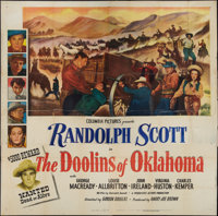 "The Doolins of Oklahoma (Columbia, 1949). Six Sheet (81"" X 81""). Western"