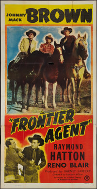 "Frontier Agent (Monogram, 1948). Three Sheet (41"" X 81""). Western"