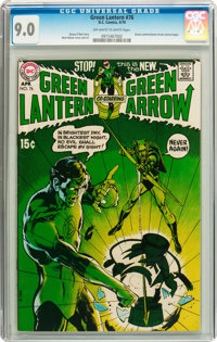 Green Lantern #76 (DC, 1970) CGC VF/NM 9.0 Off-white to white pages