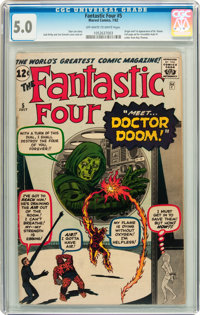 Fantastic Four #5 (Marvel, 1962) CGC VG/FN 5.0 Off-white to white pages