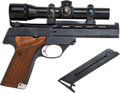"Handguns:Semiautomatic Pistol, Left-Handed High Standard ""Victor"" Model Semi-Automatic TargetPistol Together with Telescopic Sight...."