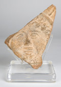Antiquities:Greek, Antiquities: ETRURIA. Etruscan ceramic tile fragment with head ofHelios. Ca. 400-300 BC. ... (Total: 2 items)