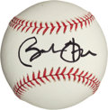 Autographs:Bats, 2008 Barack Obama Single Signed Baseball, PSA Mint 9....