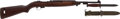 Long Guns:Semiautomatic, U.S. M-1 Carbine by Inland, Together with Bayonet and Scabbard....