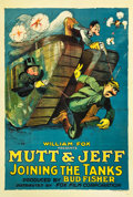 """Movie Posters:Animation, Mutt and Jeff in Joining the Tanks (Fox, 1918). One Sheet (27"""" X 41"""").. ..."""