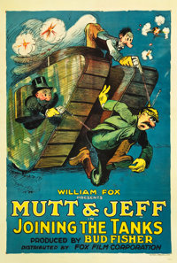 "Mutt and Jeff in Joining the Tanks (Fox, 1918). One Sheet (27"" X 41"")"