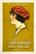 "Movie Posters:Comedy, Peck's Bad Girl (Goldwyn, 1918). One Sheet (27"" X 41"").. ..."