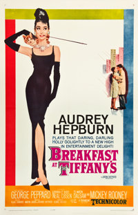 "Breakfast at Tiffany's (Paramount, 1961). One Sheet (27"" X 41"")"