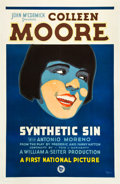 "Movie Posters:Comedy, Synthetic Sin (First National, 1929). One Sheet (27"" X 41"").. ..."