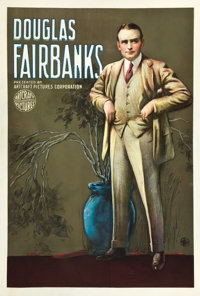 "Douglas Fairbanks Stock Poster (Artcraft Pictures, ca. 1918-1919). One Sheet (27"" X 41"")"