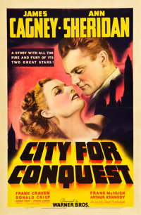 "City for Conquest (Warner Brothers, 1940). One Sheet (27"" X 41"")"