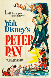 "Peter Pan (RKO, 1953). One Sheet (27"" X 41"")"