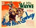 "Movie Posters:Western, Ride Him, Cowboy (Warner Brothers, 1932). Half Sheet (22"" X 28"")....."