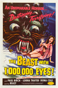 """Movie Posters:Science Fiction, The Beast with 1,000,000 Eyes! (American Releasing Corp., 1955).One Sheet (27"""" X 41"""").. ..."""