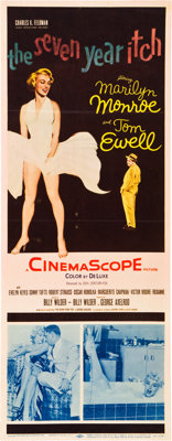 """The Seven Year Itch (20th Century Fox, 1955). Insert (14"""" X 36"""")"""