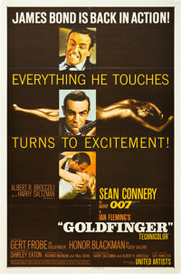 "Goldfinger (United Artists, 1964). One Sheet (27"" X 41"")"