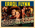 "Movie Posters:Western, Dodge City (Warner Brothers, 1939). Half Sheet (22"" X 28"").. ..."