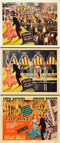 "Movie Posters:Musical, Top Hat (RKO, 1935). Title Lobby Card and Lobby Cards (2) (11"" X14"").. ... (Total: 3 Items)"