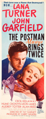 "The Postman Always Rings Twice (MGM, 1946). Insert (14"" X 36"")"