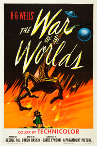 """The War of the Worlds (Paramount, 1953). One Sheet (27"""" X 41"""")"""