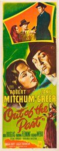 "Movie Posters:Film Noir, Out of the Past (RKO, 1947). Insert (14"" X 36"").. ..."