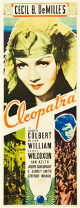 "Movie Posters:Historical Drama, Cleopatra (Paramount, 1934). Insert (14"" X 36"").. ..."