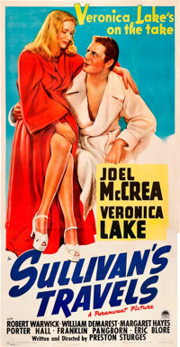 "Sullivan's Travels (Paramount, 1941). Three Sheet (41"" X 81"")"