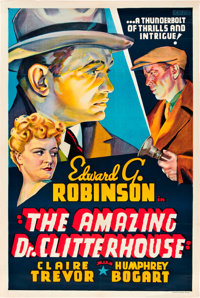 "The Amazing Dr. Clitterhouse (Warner Brothers, 1938). Other Company One Sheet (27.5"" X 41.5"")"