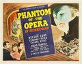 "Movie Posters:Horror, Phantom of the Opera (Universal, 1943). Title Lobby Card (11"" X14"").. ..."