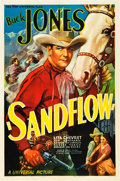 "Movie Posters:Western, Sandflow (Universal, 1937). One Sheet (27"" X 41"").. ..."