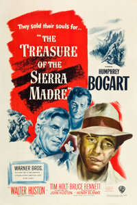 """The Treasure of the Sierra Madre (Warner Brothers, 1948). One Sheet (27"""" X 41"""")"""