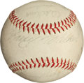 Autographs:Baseballs, 1966 Pittsburgh Pirates Team Signed Baseball with Clemente....